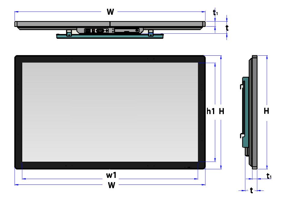 65 inch dimension